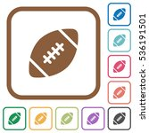 rugby ball simple icons in...   Shutterstock .eps vector #536191501