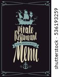 vector menu for restaurants... | Shutterstock .eps vector #536193259