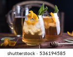 refreshing iced tea with...   Shutterstock . vector #536194585