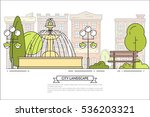 city landscape with bench ... | Shutterstock .eps vector #536203321