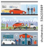 car dealership  roadside... | Shutterstock .eps vector #536205889