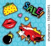 pop art fashion chic patches ...   Shutterstock .eps vector #536208451