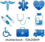 medical and hospital icons | Shutterstock .eps vector #53620849