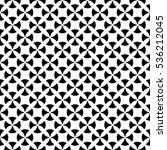 vector monochrome seamless... | Shutterstock .eps vector #536212045