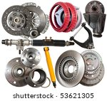 set of automotive parts.... | Shutterstock . vector #53621305