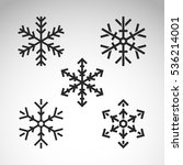 snowflake winter set of black... | Shutterstock .eps vector #536214001