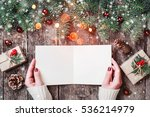 female hand writing and reading ... | Shutterstock . vector #536214979