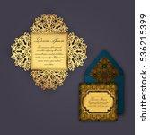 wedding invitation or greeting... | Shutterstock .eps vector #536215399