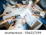 financial report | Shutterstock . vector #536217199