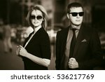 young business couple walking... | Shutterstock . vector #536217769