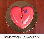 Cake In Shape Of Heart