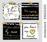 a set of hand drawn style... | Shutterstock .eps vector #536222101