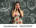 woman overcome with stress  out ... | Shutterstock . vector #536225029