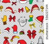 christmas seamless vector... | Shutterstock .eps vector #536227144