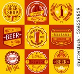 vector set of beer labels and... | Shutterstock .eps vector #536229859