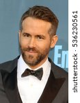Small photo of LOS ANGELES - DEC 11: Ryan Reynolds at the 22nd Annual Critics' Choice Awards at Barker Hanger on December 11, 2016 in Santa Monica, CA