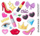 sticker pack for girls. high... | Shutterstock .eps vector #536231557
