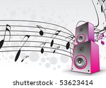 music notes with music box for... | Shutterstock .eps vector #53623414
