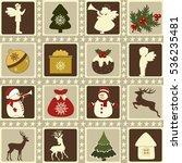 set of christmas elements  | Shutterstock .eps vector #536235481