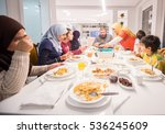 muslim traditional family... | Shutterstock . vector #536245609