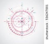 technical plan  abstract... | Shutterstock .eps vector #536247001