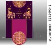 wedding invitation card... | Shutterstock .eps vector #536249041