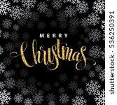 merry christmas gold glittering ... | Shutterstock .eps vector #536250391
