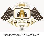 vintage decorative heraldic...   Shutterstock .eps vector #536251675