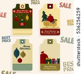 supermarket sale tags. retro... | Shutterstock .eps vector #536256259