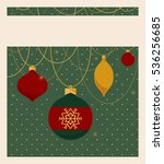 merry christmas and happy new... | Shutterstock .eps vector #536256685