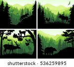 set of vector mountains... | Shutterstock .eps vector #536259895