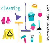 cleaning service flat...   Shutterstock .eps vector #536261245