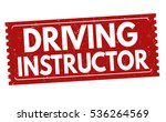 driving instructor grunge... | Shutterstock .eps vector #536264569