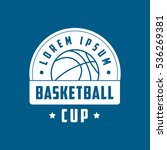basketball cup emblem flat icon ... | Shutterstock .eps vector #536269381