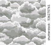 thunder sky seamless pattern.... | Shutterstock .eps vector #536270761
