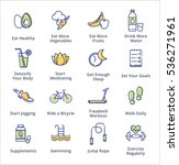 healthy lifestyle icons  ... | Shutterstock .eps vector #536271961
