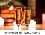 beautiful two glasses of... | Shutterstock . vector #536272549