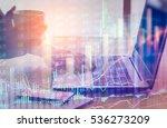 double exposure businessman and ... | Shutterstock . vector #536273209