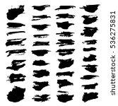 abstract black textured strokes ... | Shutterstock .eps vector #536275831