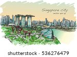 sketch cityscape of singapore...   Shutterstock .eps vector #536276479