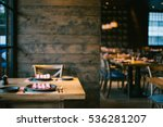 restaurant with wooden interior | Shutterstock . vector #536281207