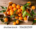 fresh picked mandarins | Shutterstock . vector #536282509