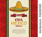 viva mexico poster celebration | Shutterstock .eps vector #536283385