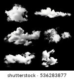 Collection White Clouds Isolated Black - Fine Art prints
