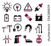 electric icon set | Shutterstock .eps vector #536288839
