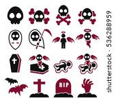 death icon set | Shutterstock .eps vector #536288959