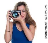 pretty teenage girl taking... | Shutterstock . vector #536293291
