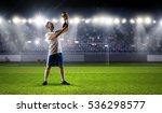 he is the champ . mixed media | Shutterstock . vector #536298577