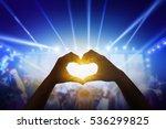 close up a heart shaped hand ... | Shutterstock . vector #536299825