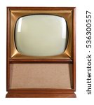 vintage television isolated... | Shutterstock . vector #536300557
